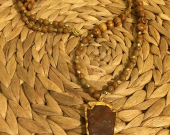 Arrowhead Necklace- Wooden