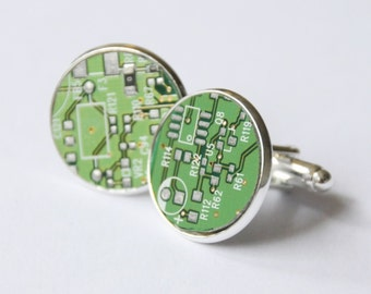 Recycled Circuit Board Cuff Links