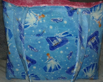 Cinderella tote bag, cinderella diaper bag,cinderella overnight bag