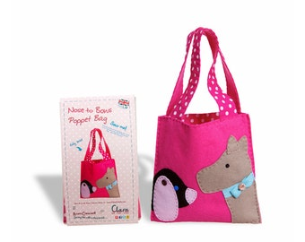 Child's Bag Sewing kit - Nose to Bows