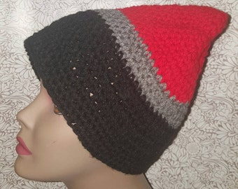 Red, Black and Gray Beanie