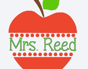 Monogram decal/ teacher