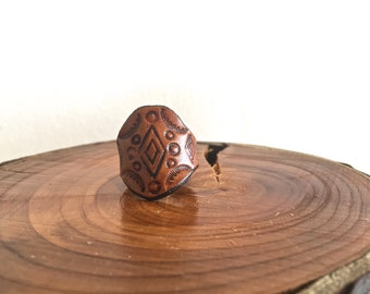 Great Spirit Leather Ring