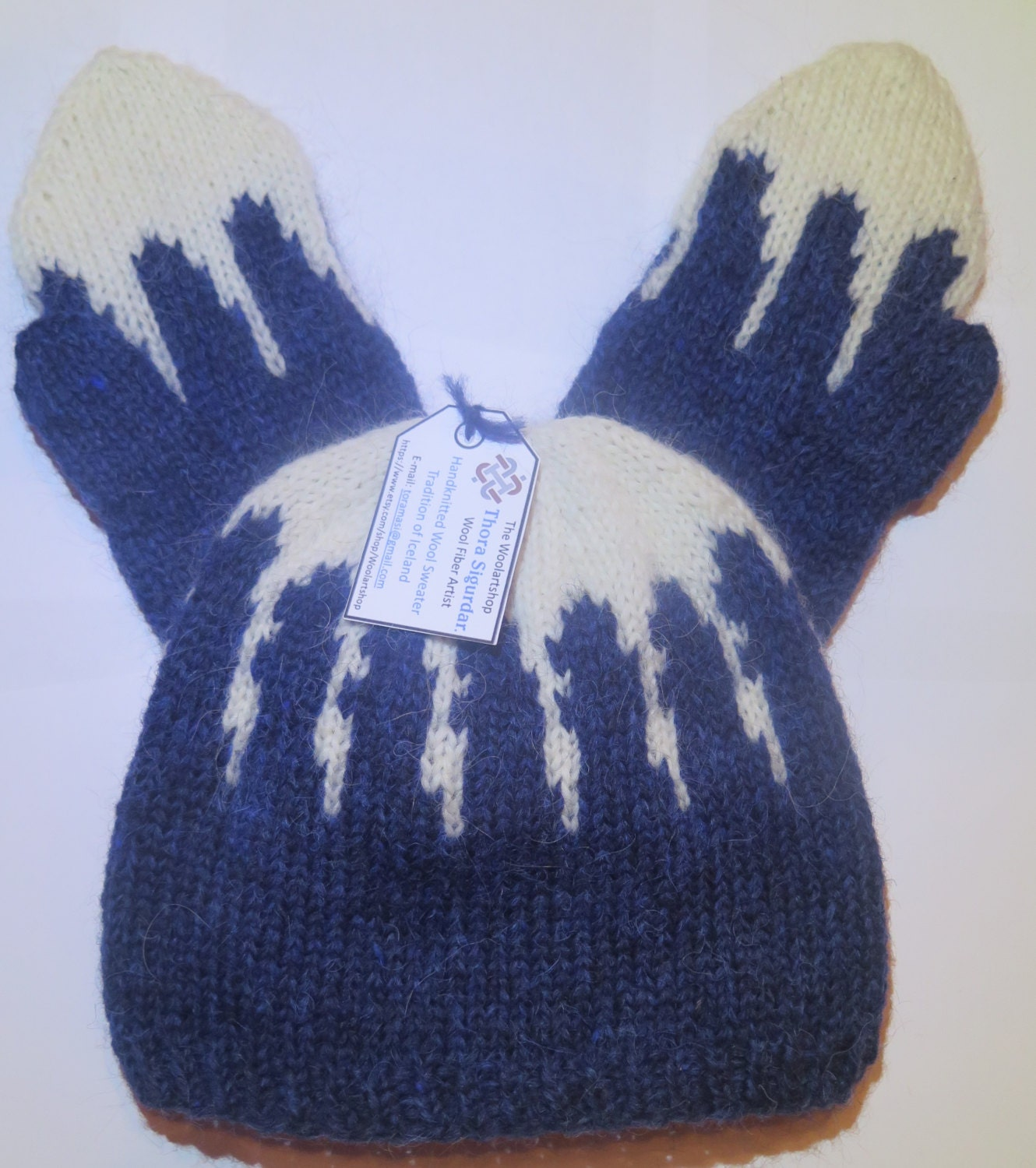 Icelandic Knit Winter Hat & Mittens Type: ICICLES 5. Made
