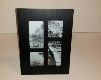 Black and White Ohio Print with Collage Frame 6×8