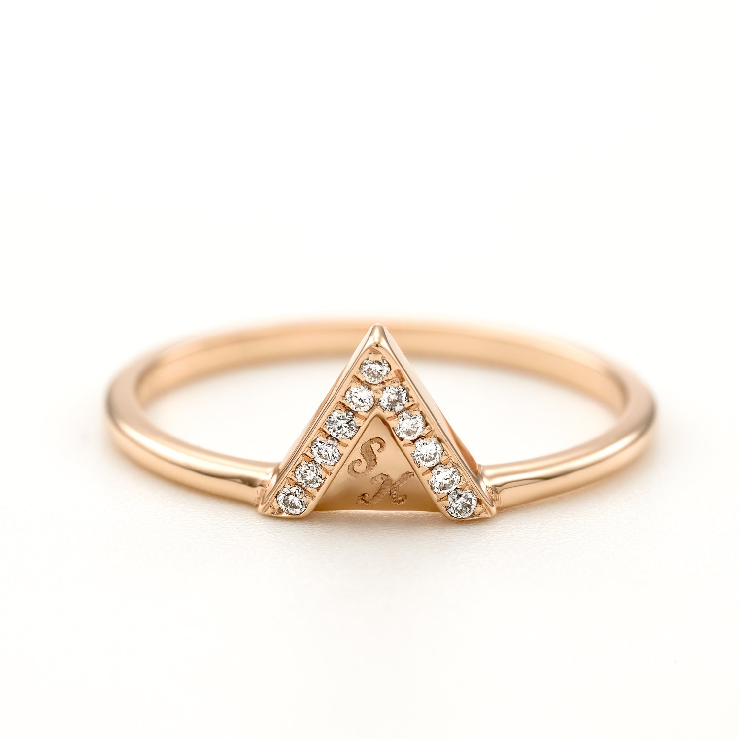 diamond wedding ring trillion ring triangle wedding ring simple wedding ring - Simple Wedding Ring