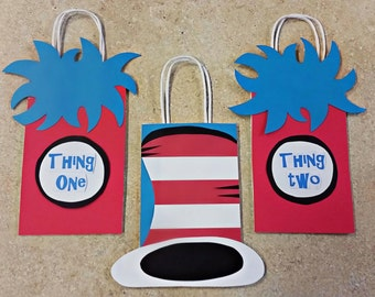 Dr Suess Thing One Thing Two Bags