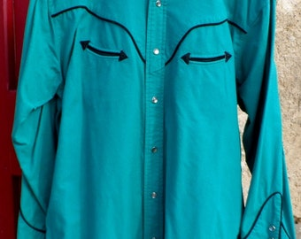 Vintage Ralph Lauren Western shirt with smiley pockets and pearl snaps