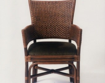 Dinning room chair , accent chair, The Alameda woven dark peel comtempory dinning room chair