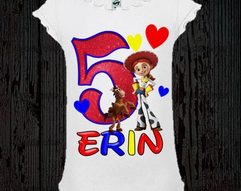 Jessie Toy Story Birthday Shirt - Girl's Toy Story Birthday Shirt or Dress