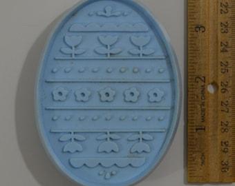"""Vintage HALLMARK EASTER EGG Cookie Cutter   1974 3 11/16"""" Blue"""