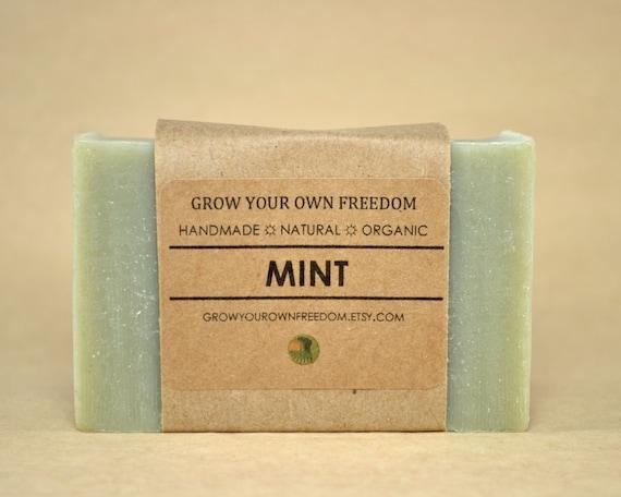 Organic Peppermint Soap