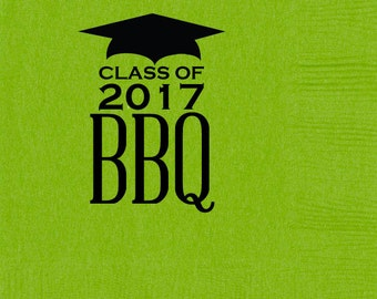 Personalized Party Napkins for Graduation {Kiwi Green}