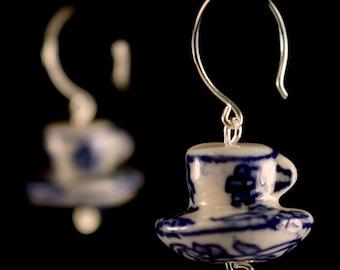 Delft Teacup Earrings