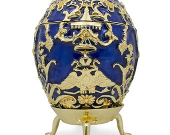1912 Tsarevich Russian Faberge Egg- SKU # ZBH10750