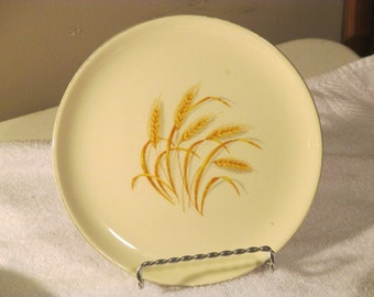 Golden Wheat 22 K gold trim Plate