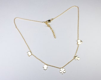 Gold Plated Necklace, Delicate Necklace, Simple Necklace, Gold plated chain, necklace with chain