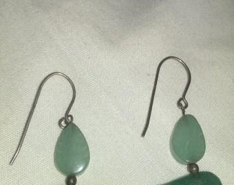Vintage sterling silver Zuni bear earrings