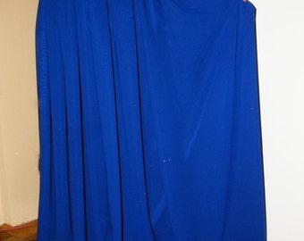 Blue Long Chiffon Skirt