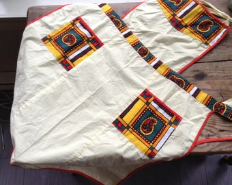 Yellow apron, Womens, cotton