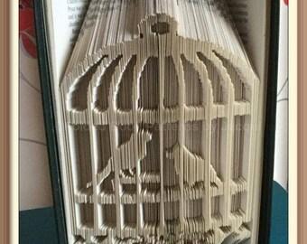 Bird Cage. Book Folding PATTERN