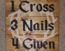 4 Given Wood Sign