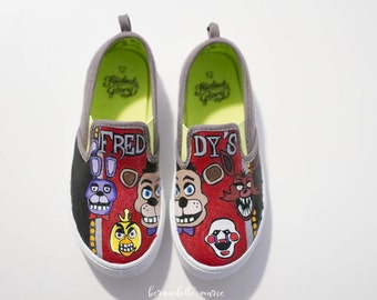 Five Night at Freddy's Customized shoes, Freddy Fazbear and friends personalized shoes