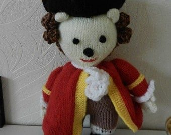 Town Crier - hand knitted inspired by Jean Greenhow