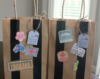 Airplane Birthday Party / Suitcase Favor Bag (customizable)