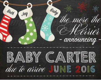 The More the Merrier Christmas Pregnancy Announcement