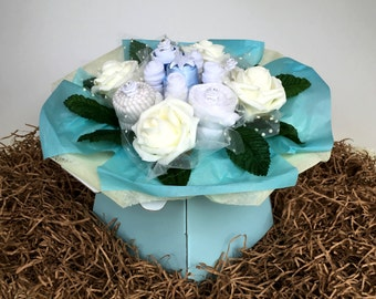 The very useful baby bouquet - blue