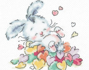 Cross Stitch Kit Bathed in love (bunny)