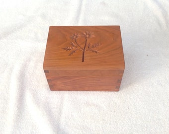 Handcarved Kitchen Recipe Box
