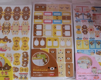 Kawaii/ Cute Rilakkuma Planner Stickers