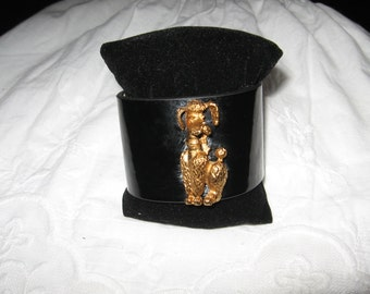 Poodle Patent Leather Charming Bracelet