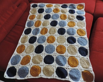 Retro Circle Crochet Baby Blanket