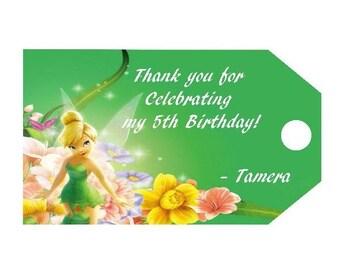 Disney TinkerBell Favor Tags, Tinkerbell Inspired Tags, Tinkerbell Birthday, Tinkerbell Favors