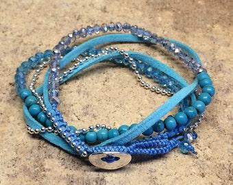 Wrap Bracelet | Beaded | Free Shipping USA