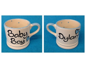 Personalised Baby Boy Mug - Blue