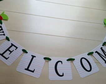 Back to School Welcome Banner - Classroom Decoration - Teacher Banner
