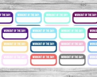 "12 ""Workout of the Day"" Stickers"
