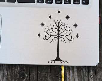 Tree of Gondor decal, lord of the rings decal, vinyl decals, white tree, macbook decal, wall sticker, car decal, tablet decal, ipad decal