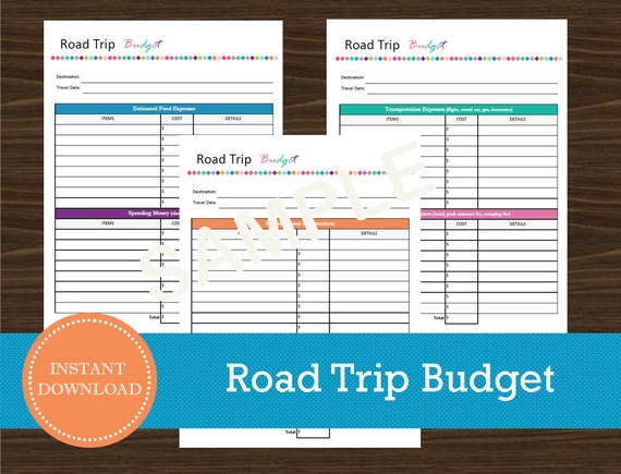 Crush image with printable road trip planner