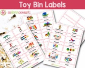 Toy Bin Labels (Pink) - P...