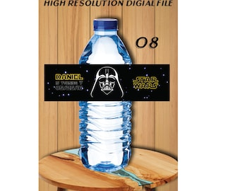 Darth Vadar Star Wars Bottle Labels, Star Wars  Water Label, Star Wars Printables, Star Wars Birthday Party, Star Wars Bottle Labels #8