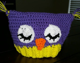 Owl baby hat 3-6 months old