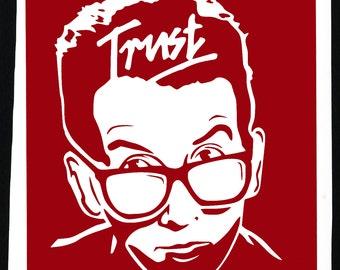 Elvis Costello Trust 2 Color Vinyl Sticker