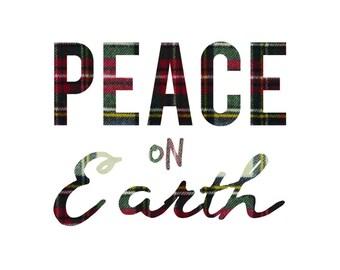 Peace on Earth - Colored Plaid