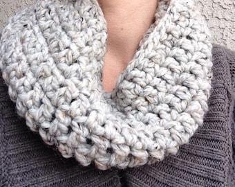 Chunky Crochet Neck Cowl - wool varieties