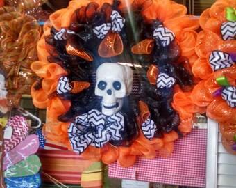 Mesh wreath, Halloween